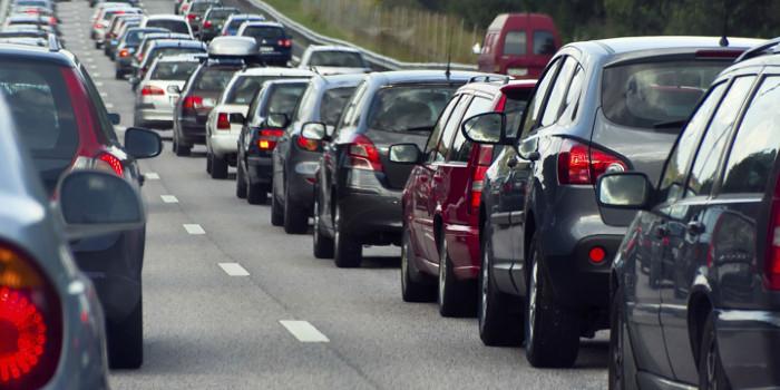 Distância de segurança em fila de trânsito