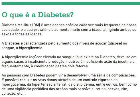 o que é a diabetes