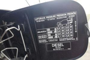 pressão nos pneus