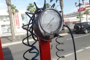 pressão dos pneus