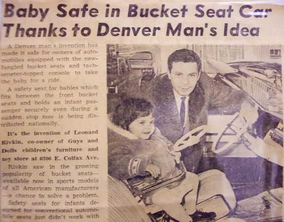 Leonard Rivkin e um artigo da época que fala da sua invenção.