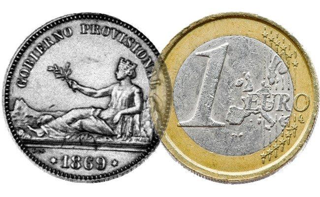 Peseta y Euro