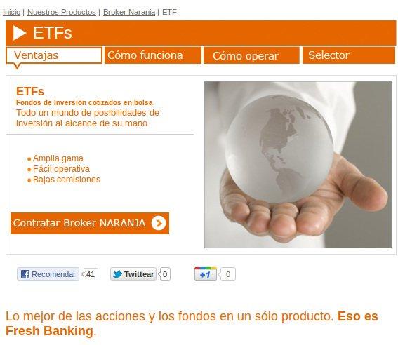 Selector de ETFs, exclusivo de ING DIRECT