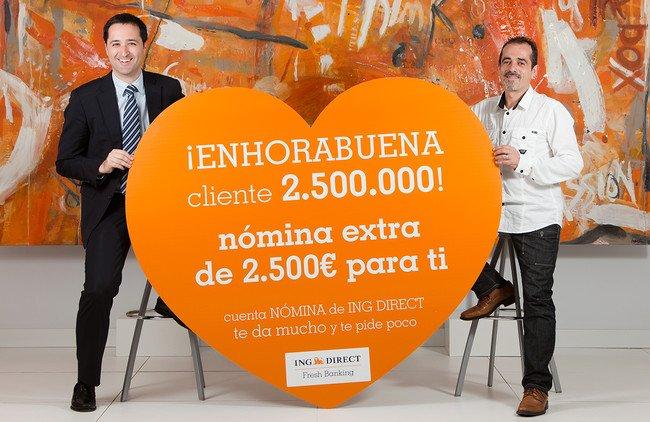Premio al Cliente 2,5 millones de ING DIRECT en España