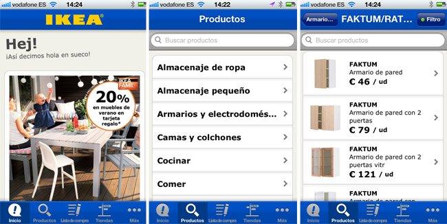 Aplicación de ikea para iPhone y Android