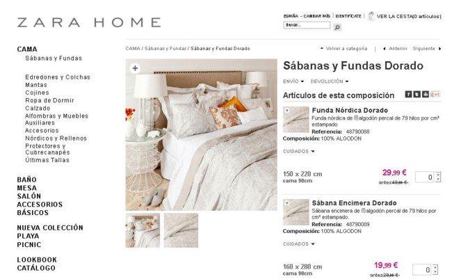 Zara Home online rebajas