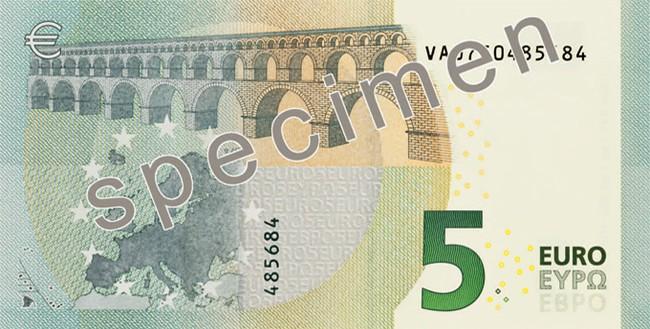 Billete 5 euros serie Europa