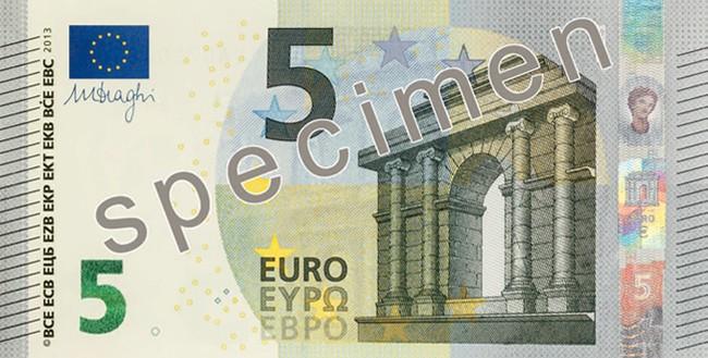 Billete de 5 euros serie Europa