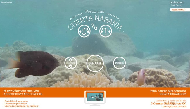 Pesca una Cuenta NARANJA - Concurso ING DIRECT Facebook