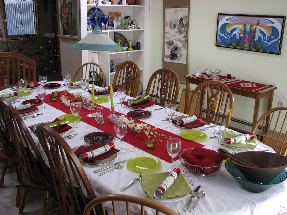 Ideas low cost para una decoraci n navide a original en - Como poner la mesa en navidad ...