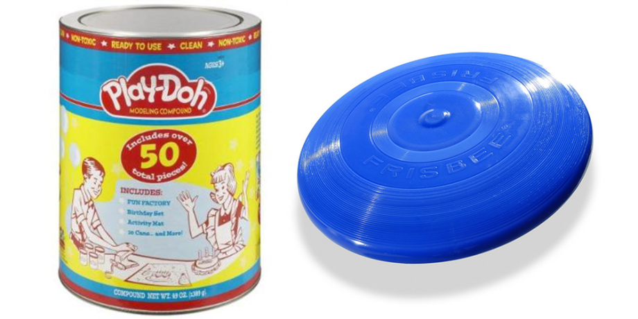 Set de Play Doh, fuente Amazon / Frisbee, fuente Wham-O