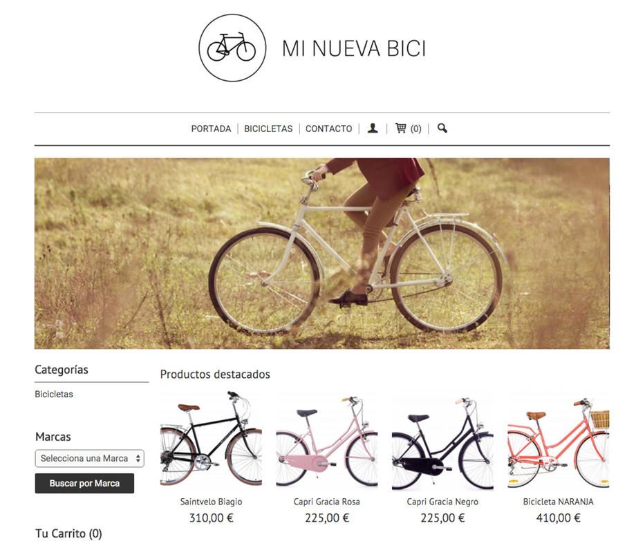 Ejemplo de tienda online creada con eTienda en 5 minutos
