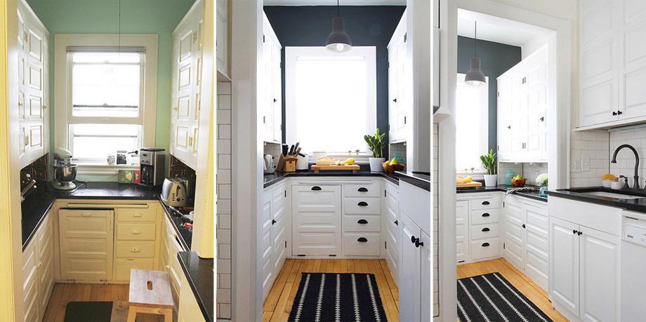 Media docena de ideas para conseguir que tu cocina parezca - Cambiar puertas muebles cocina ...