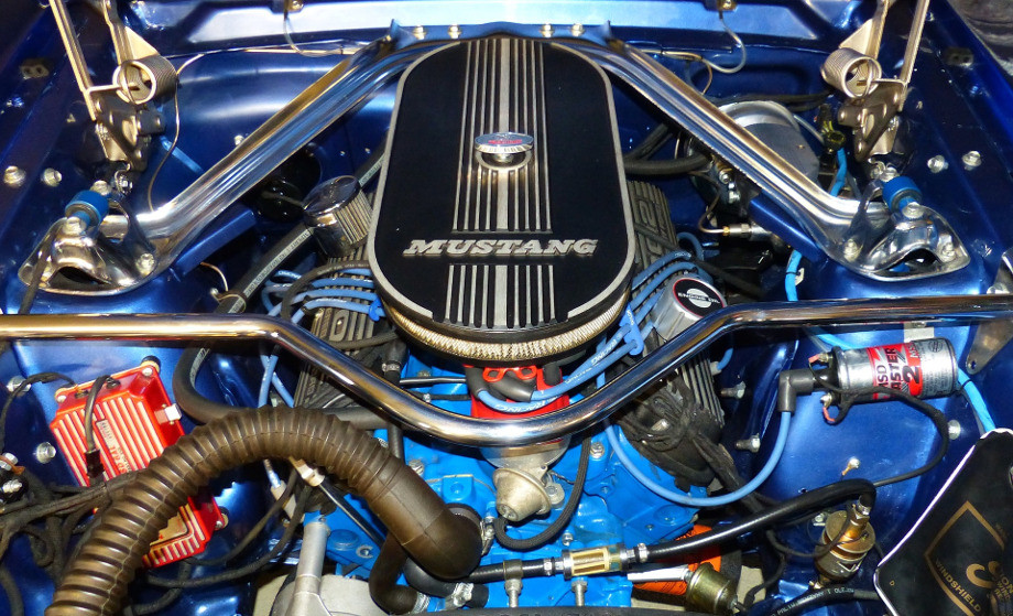 Filtro de aire en un Mustang
