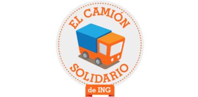 Logo camión solidario ING