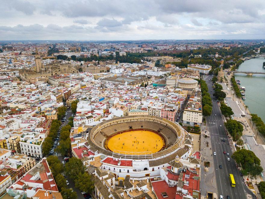 Imagen aérea de Sevilla