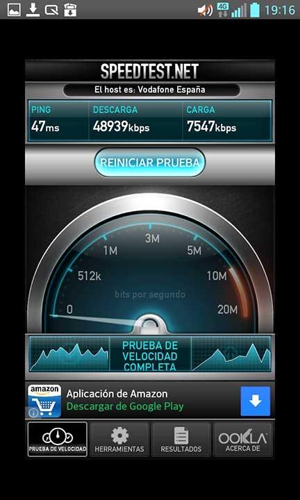 Vodafone 4g velocidad test