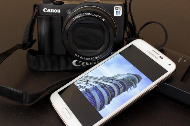 Canon g1x mark 2 samsung s5