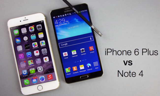 note 4 iphone 6 plus