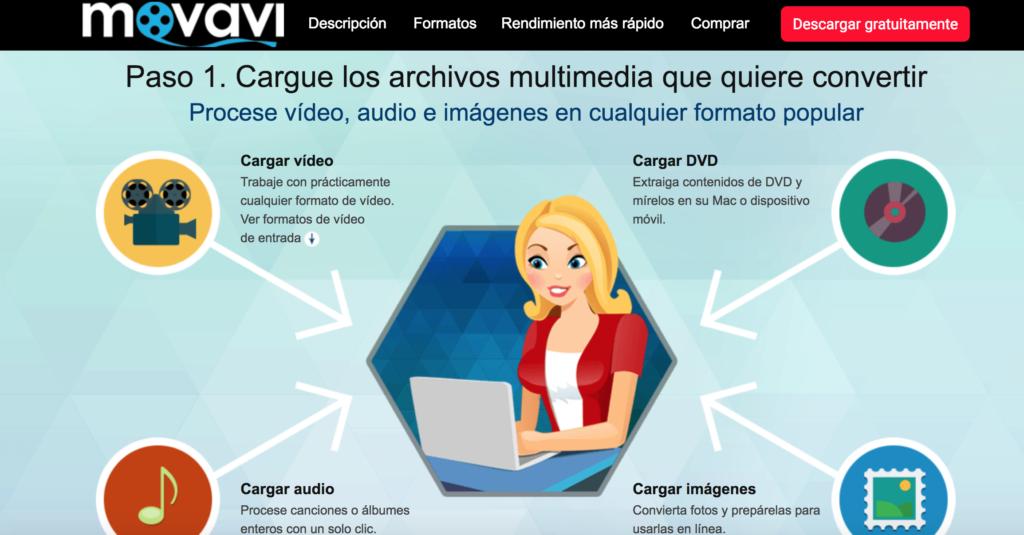 Movavi conversor de formatos de vídeo para Mac