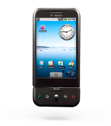 Teléfono t-mobile g1 con android