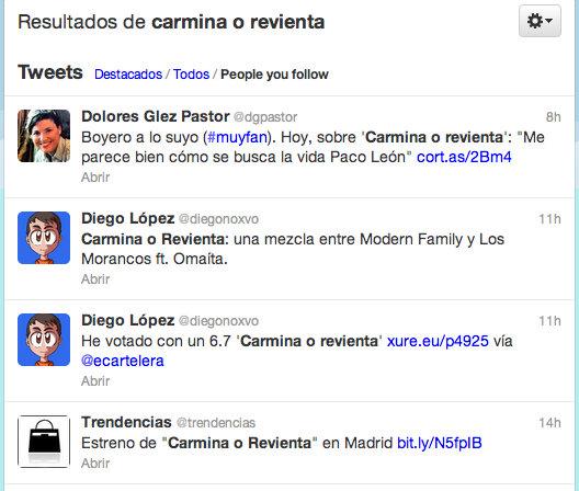 Buscador Twitter relevancia