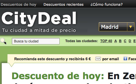 Captura Citydeal Madrid