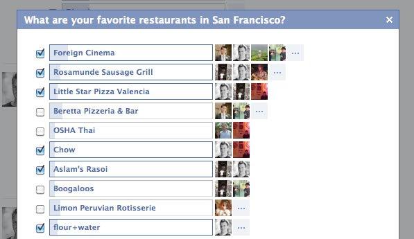 Facebook Preguntas