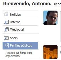 Filtros en Facebook