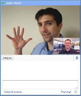 Video chat en GMail