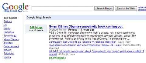 Google Blogsearch captura