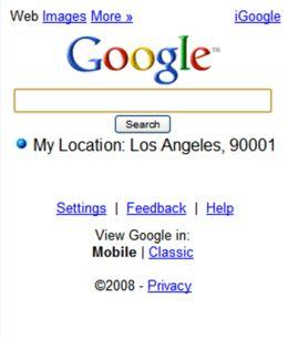 Google buscar localización