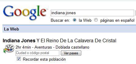 Google Cartelera cine