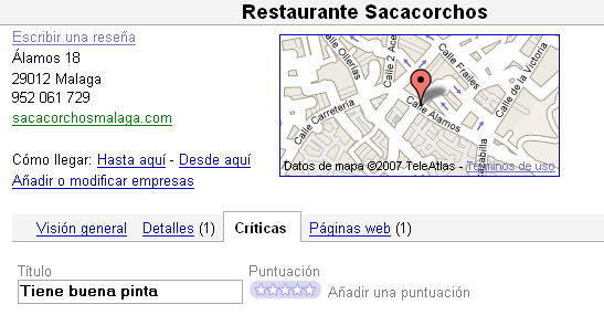 Google Maps críticas
