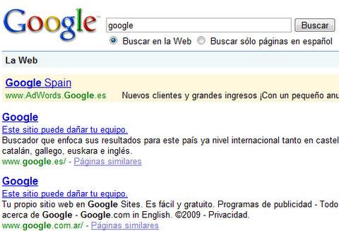 Google pantalla azul