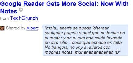 notas Google Reader