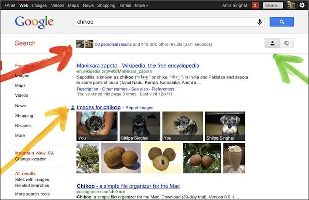 Google Plus en el buscador