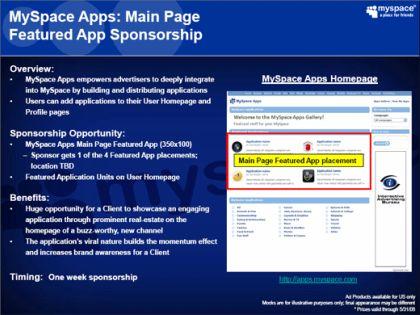 Myspace aplicaciones