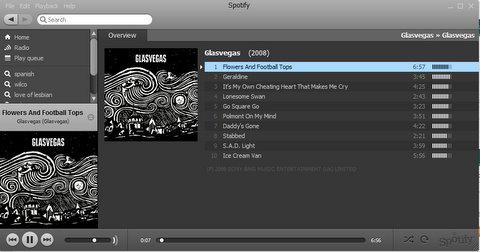 Glasvegas en Spotify