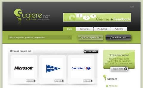 Sugiere.net captura