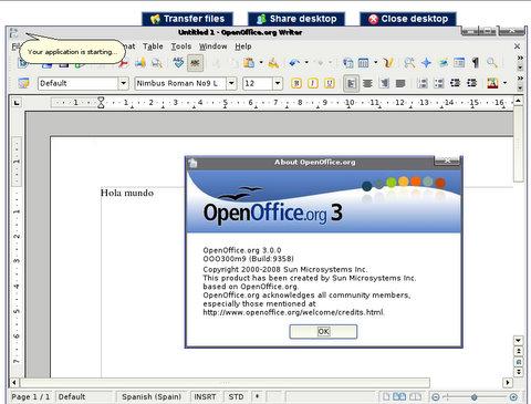 OpenOffice con Ulteo