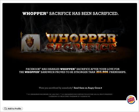 Whopper Facebook