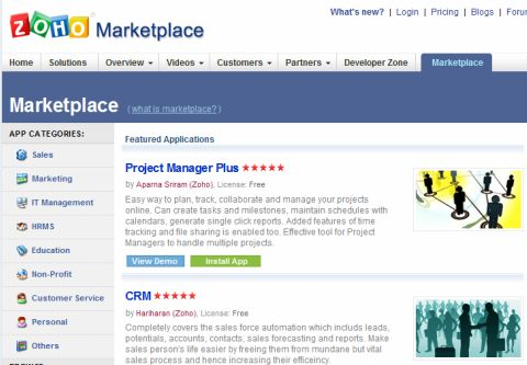Zoho Marketplace