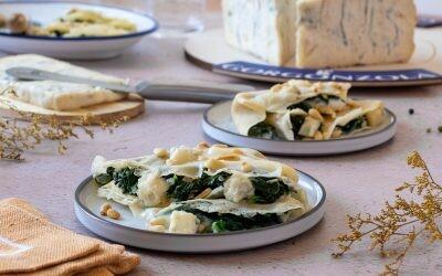 Crêpes rellenos de espinacas y queso Gorgonzola, un toque francés y otro italiano para una receta muy sabrosa