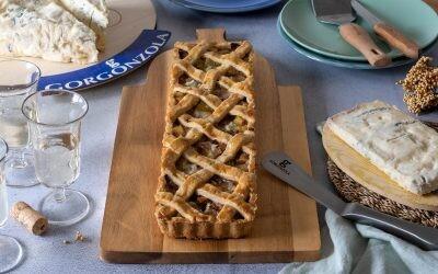 Tarta salada de puerro, patata y queso Gorgonzola, una receta sencilla para cualquier momento del día