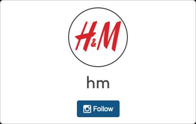 H&M en Instagram