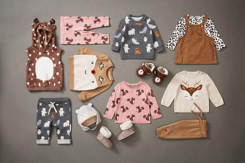 ropa navidad niño animales