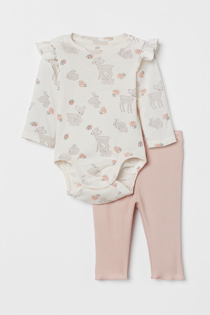 conjunto bodi pantalon recien nacido