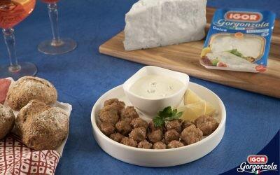 Albóndigas de ternera con crema de queso Gorgonzola Dulce Igor: versión patria de las polpettine italianas