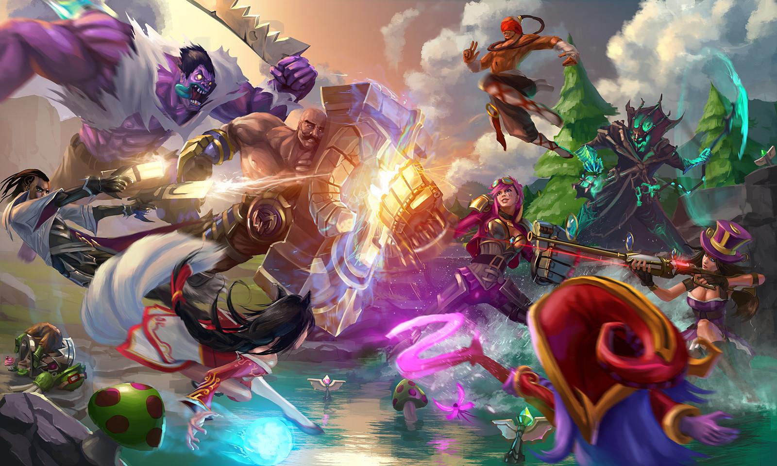 Una ilustración hecha por un seguidor del juego, lo que se conoce como 'fan art'. Propiedad de na.leagueoflegends.com